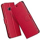 ELESNOW Hülle für Samsung Galaxy S8, Premium Leder Klappbar Wallet Schutzhülle Tasche Handyhülle mit [Magnetisch, Kartenfach, Standfunktion] für Samsung Galaxy S8 (Rot)