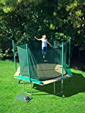 Magic Circle 14' Hexagon Trampoline with Safety Cage (Black Mat with All Green Pads)