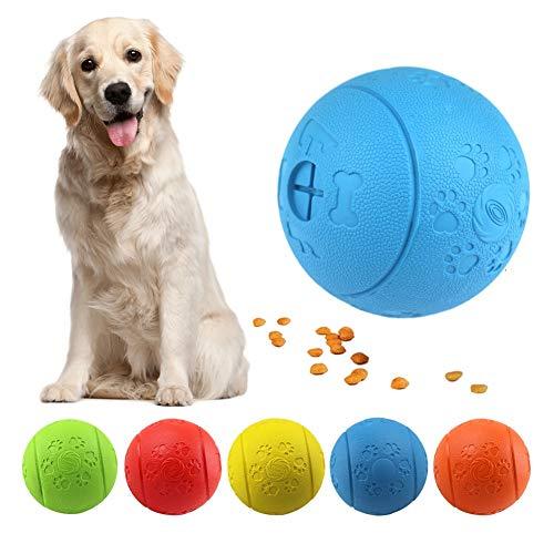 MEKEET Pelota de Juguete para Perros, Pelota de Goma, no tóxica, Resistente a la mordedura, para Mascotas, Perros, Juego de Ejercicio, Pelota de Entrenamiento IQ (Blue)