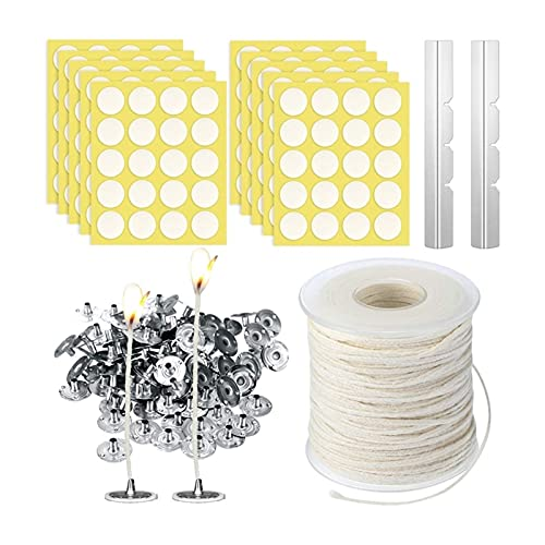 LQHZ Candle support Candle Making Kit,Braided Wick,Wick Sustainer Tabs,Wick Stickers,Candle Wicks Holder for Handmade Candle Making Kit Exquisite workmanship, convenient and practical (Color : White)