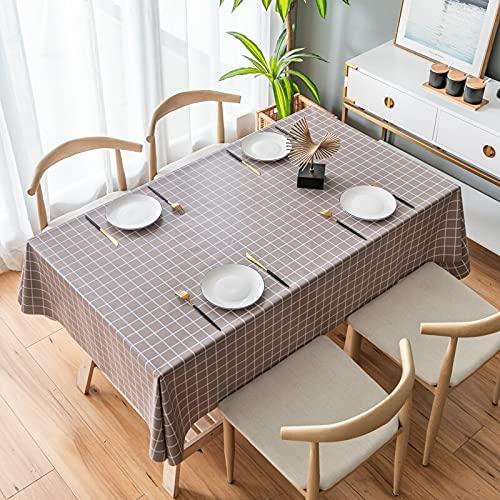 XXDD Mantel Rectangular para Sala de Estar, Lona de plástico y Cubierta de Mesa de café Impermeable, decoración de Mesa A1 140x180cm