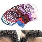 6ピースアフロツイストコームセット カールウィーブドレッドロック天然スタイルのヘアブラシツール男性女性の理髪師に適している
