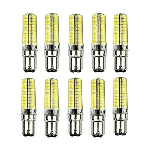 WELSUN Dimmable LED G9 / E14 / G4 / BA15D 5W 80 SMD 5730 350 LM Blanc Chaud/Cool White LED Ampoule 30W Remplacement AC200-240V 10Pcs (Color : Warm White, Shape : Ba15D)