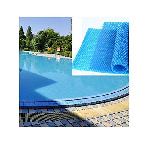 Zwembadafdekking Op Zonne-energie Zwembadverwarming En Thermische Isolatie PE-bubbelfolie Verminder Waterverdamping Met 95% Voor Buitenzwembaden, Waterdicht Zeildoek