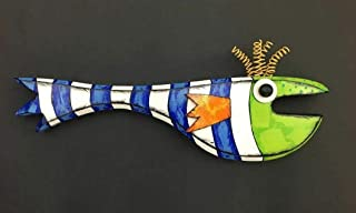 Kinks & Quirks Handpainted Whimsical Fish #59 Wall Art by Tra Art Studio…