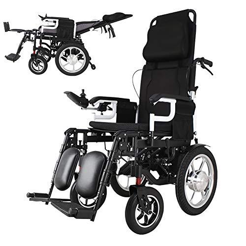 Nobuddy Elektro-Rollstuhl Klapprollstuhl Elektrisch Leicht Zusammenklappbar Vollautomatischer Elektrischer Rollstuhl Faltbar Elektrorollstuhl Für ältere Und Behinderte Menschen / 20AH Lithium Battery
