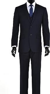 エレガントなメンズモダンフィット3?Piece 2つボタンスーツ?–?多くの色(40ショート、ネイビー)