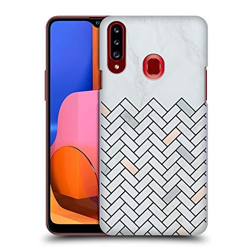 Officiële Alyn Spiller Tegel Marmer Hard Back Case Compatibel voor Samsung Galaxy A20s (2019)