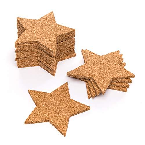 """Baker Ross Klassenpackung Kork-Untersetzer """"Stern"""" für Kinder – für weihnachtliche Bastelarbeiten und Dekorationen (30 Stück)"""