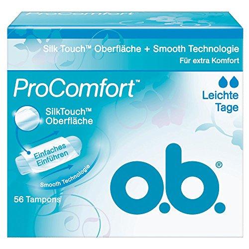 o.b. Tampon Pro Comfort leichte Tage 56er, 1er Pack (1 x 56 Stück)