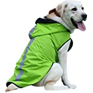 senye Waterproof Dog Raincoat, Lightweight Packable Jacket with Reflective Stripes for High...