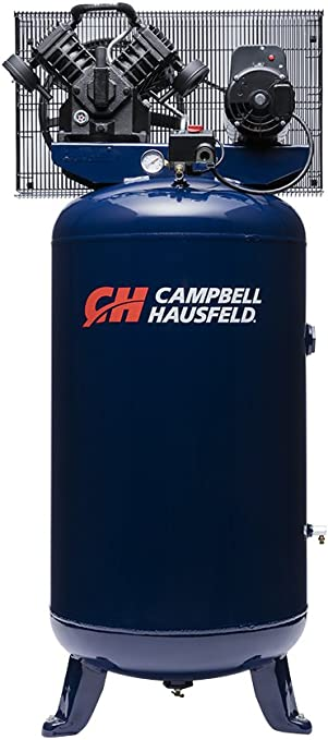 Air Compressor, 80 Gallon, Vertical Compressor, Single-Stage, 16CFM, 5HP, 1PH (Campbell Hausfeld TQ3104): image