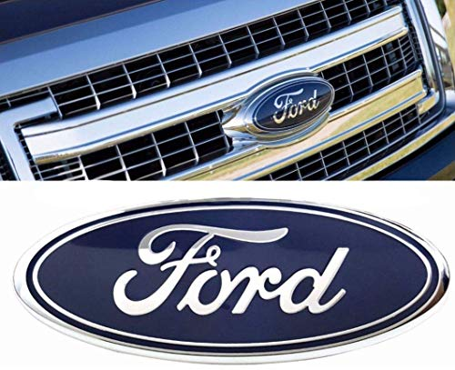 fit 2004-2014 F150 Front Grille Tailgate Emblem,for Ford 04-14 F250 F350,11-14 Edge,11-16 Explorer,06-11 Ranger Dark Blue Decal Badge Nameplate, Oval 9'X3.5'