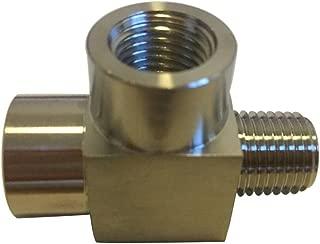 Metalwork 304 Stainless Steel Pipe Fitting, Street Tee, Male Run Tee, 1/4