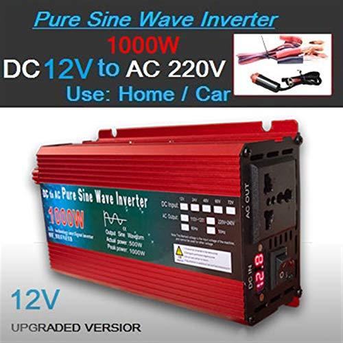 GAOLE Inversor de onda sinusoidal pura 12V / 24V a AC110V 220V 1000W 2000W 3000W Transformador de voltaje convertidor de energía inversor solar LED