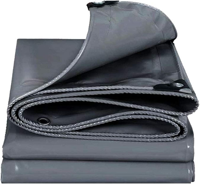 ZHhome Plane Heavy Duty, 4 X 3 M Tarps, geeignet für Wasserdichte Gartenarbeit Angeln Hängematte Rain Fly Zelt Tarp Footprint Camping Shelter Bodentuch, Multi-Größe-Optionen, grau B07HR8P3D1  Internationale Wahl