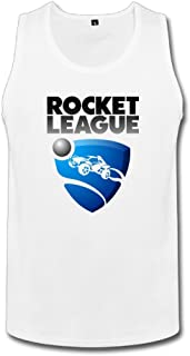 男性 かわいい ロケットリーグ ロゴ ポスター タンクトップ 体に合う White