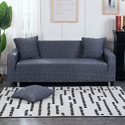 Funda de sofá gris Fundas de muebles elásticas Fundas de sofá elásticas para sala de estar Funda de asiento con funda deslizante funda de asiento de spandex sofá de 1-4 plazas, color 23,4-Seater (235