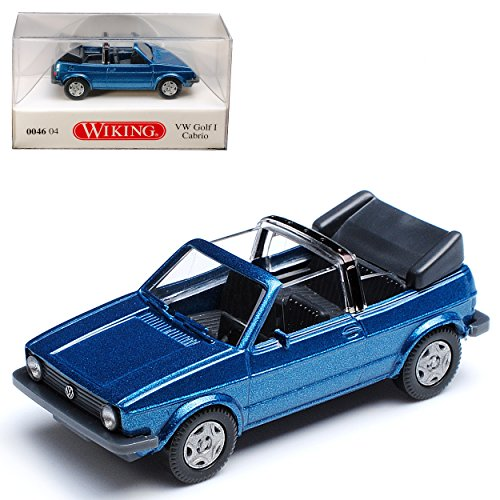 Wiking Volkwagen Golf I Ozean Blau Metallic Cabrio 1979-1993 H0 1/87 Modell Auto mit individiuellem Wunschkennzeichen