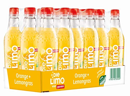 Die Limo Original Orange-Lemongras, 18er Pack, EINWEG (18 x 500 ml)