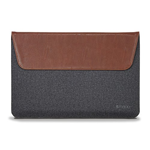 Maroo Woodland PU Leather/Wool Sleeve for Microsoft Surface Pro 3 - Brown (3,4,5,6) - Braun/Grau