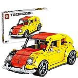 Foxcm Modelo de coche de carreras, 675 piezas, piezas de construcción para escarabajo clásico, compatible con Lego Technic