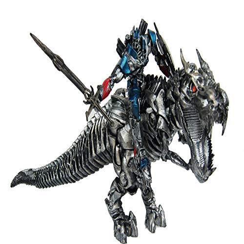 Jurásico Dinosaurio Transformación de juguetes Transformadores Optimus Prime Tyrannosaurus Dinosaurio Modelo Estatua Adulto Juguetes para niños Decoración navideña Juego Juego Personaje de dibujos ani