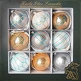 Cáncer Cristal Lauscha–Árbol de Navidad.–Bolas–Bolas de Cristal en...