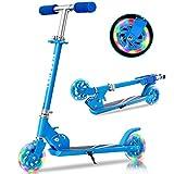 TENBOOM Roller Kinder Scooter 6 Jahre, 2 LED aufleuchten Räder Tretroller Kinder Roller 3 Jahre Mädchen Jungen Klappbar höhenverstellbar hinterradbremse Roller für 3-10 Jahre