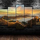 Impresión En Lienzo 5 Piezas Cuadro sobre Lienzo 5 Piezas Cuadro En Lienzo 5 Piezas Lona Murales Cuadro En Lienzo 5 Piezas Maravilla De La Gran Muralla China Decoración para El Hogar Póster
