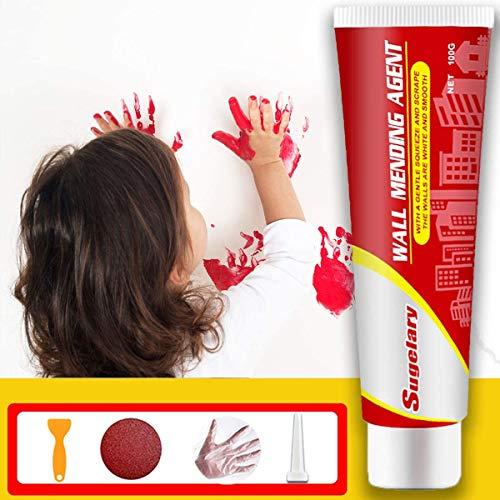 Reparadora de Pared, kit de agente de reparación de paredes con boquilla puntiaguda, relleno de pared impermeable Parche de yeso blanco para reparar grietas, agujeros, peladuras, grafitis