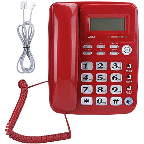 ZARTPMO Teléfono De Línea Fija Fijo Oficina De Negocios Domésticos Teléfono De Identificación De Llamadas Manos Libres Fijo Teléfono Fijo