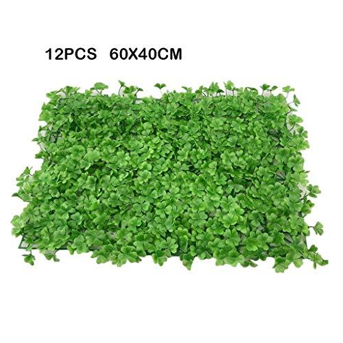 PING- 12 Panneau Haie Artificiel, Garniture Écran De Clôture Intimité Panneau Vert 60x40cm, Protection UV avec Serre-câble Intimité Extérieure Clôturée Décoration De Clôture De Jardin (Color : C)
