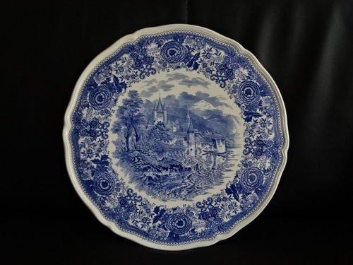 Villeroy & Boch Burgenland blau: Tortenplatte / Kuchenplatte / runde Platte