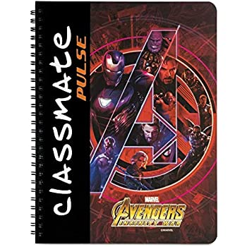 Classmate Pulse Spiral Notebook - 240 mm x 180 mm, Soft Cover, 180 Pages, Unruled