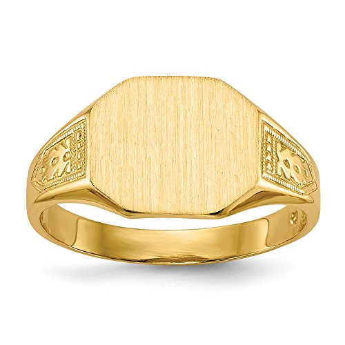14k Yellow Gold 9.0x11.0mm Signet Band Ring Size 6.00 Fine Jewelry For Women Gifts For Her