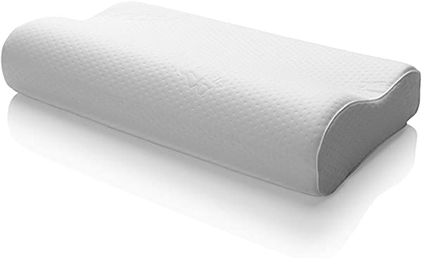Tempur Pedic TEMPUR Ergo Neck Medium Size Firm Support adaptive Comfort Relief Pillow White