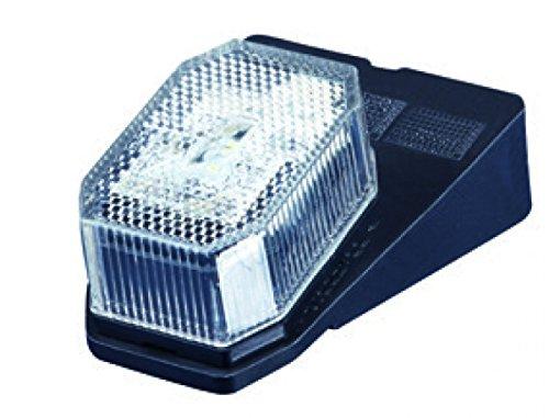 Aspöck Flexipoint Begrenzungsleuchten Umrissleuchten Positionsleuchten mit Halter LED weiß 1 Set=2 Stück Anhänger LKW Wohnwagen Nutzfahrzeuge Trailer