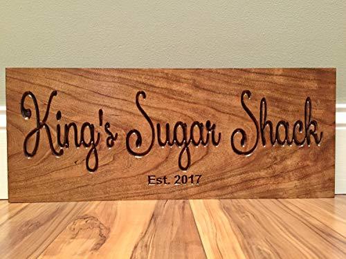 Stan256Nancy esdoorn siroop suiker Shack teken houten gedrukt hout teken welkom teken Shack teken esdoorn boom hout gedrukt teken teken outdoor hout plaque