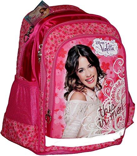 Violetta-disney-Tres Bolsa Grande a Dos-This is me.- Rosa con paillettes-38X 31X 19cm-Neuf