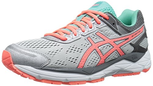ASICS Women's Gel-Fortitude 7 Running Shoe, Silver/Fiery Coral/Aqua Mint, 6 D US