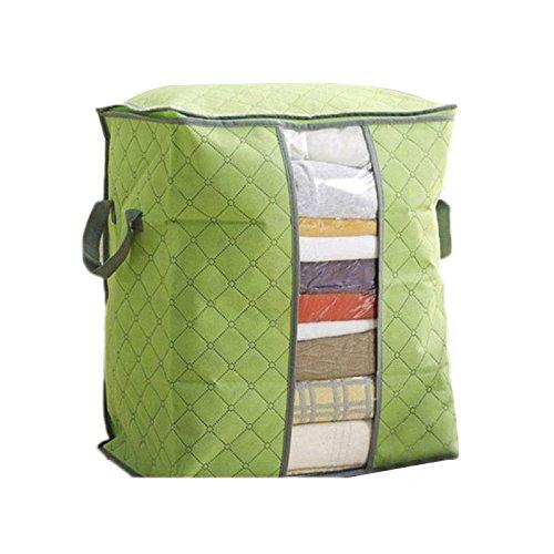 Bolsa de Almacenamiento,VENMO Ropa de Cama Grande Duvet Almohadas Cremalleras no Tejidas Caja de Almacenamiento (Verde)