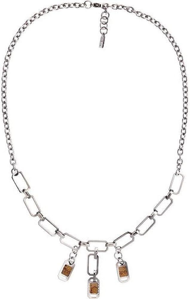 Alviero martini, collana con ciondoli per donna, in acciaio inossidabile JPCM700/115