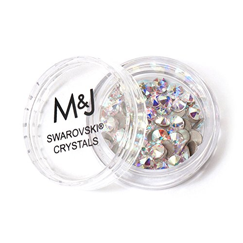 Swarovski Crystals Flat Back Rhinestones - 2088 Xirius Rose Round Foil Backed - SS16 (3.8mm-4mm) - Crystal AB 001 AB (Iridescent)