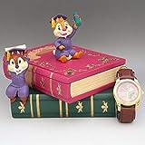 新品同様 ディズニー チップ&デール グラデュエーション2005 フィギュア付腕時計 ディスニーストア 2005年
