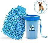 Goldthal® DAS ORIGINAL Hunde Pfotenreiniger für große und Normale Pfoten mit Microfaser Handschuh