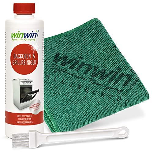 winwin clean Systemische Reinigung BACKOFENREINIGER Set: 500ml + UNIVERSALTUCH + Pinsel