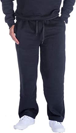 5f25b2fa8d Urimoser Mens Fleece Sweatpants Elastic Waistband with Pockets Open Leg  Pants