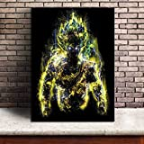 YuFeng Art Inn Modern Wall Poster Art Print Oil Painting on Canvas Home Decor Wall Decoration Canvas Art Soul of Goku Dragon Ball Super Anime (No Framed,8X10inch)