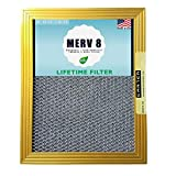 20X25X1 CARTER | MERV 8 | Lifetime HVAC & Furnace Air Filter | Washable Electrostatic | High Dust Holding Capacity